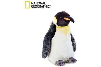 Peluches National Geographics Geographics national pingouin animaux en peluche jouet en peluche (taille moyenne, naturel)