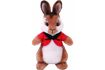 Peluches Ty Ty - flopsy peter rabbit peluche lapin boléro, couleur rouge (united labels ibérique 42276ty)