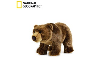 Peluches National Geographics Geographics national grizzly bear animaux en peluche jouet en peluche (taille moyenne, naturel)