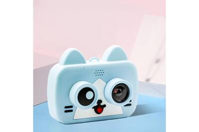 Appareil Photo Compact Aucune Mini Camera De Dessin Anime Enfant 1080p Camescope Numerique Rechargeable Pour Enfant Pour L 39 Exterieur Bleu Darty