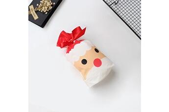 Jouets éducatifs Generic 50pcs sac à cordon de noël sacs de bonbons traiter les sacs avec des sacs à biscuits à cordon toy5946