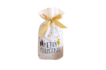 Jouets éducatifs Generic 50pcs sac à cordon de noël sacs de bonbons traiter les sacs avec des sacs à biscuits à cordon toy5947