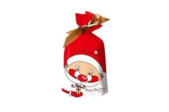 Jouets éducatifs Generic 50pcs sac à cordon de noël sacs de bonbons traiter les sacs avec des sacs à biscuits à cordon toy5949