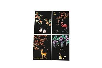 Jouets éducatifs Generic 4pcs 20x14cm papier de peinture magique scratch art avec bâton de dessin enfants jouet toy433