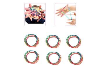 Jouets éducatifs Generic 6pcs rainbow toy string set finger 8pcs rainbow rope skill game kid jeu élastique jouets éducatifs
