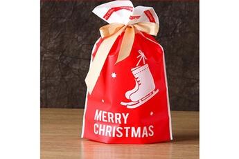 Jouets éducatifs Generic 50pcs sac à cordon de noël sacs de bonbons traiter les sacs avec des sacs à biscuits à cordon toy5941