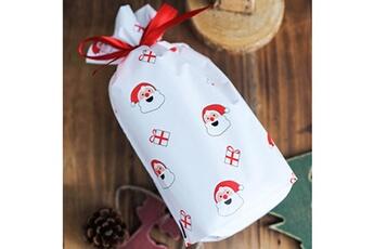 Jouets éducatifs Generic 50pcs sac à cordon de noël sacs de bonbons traiter les sacs avec des sacs à biscuits à cordon toy5938