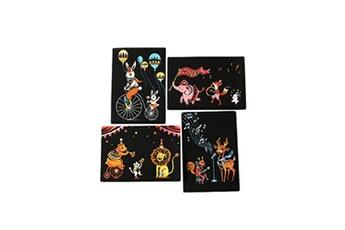 Jouets éducatifs Generic 4pcs 20x14cm papier de peinture magique scratch art avec bâton de dessin enfants jouet vinwo4642