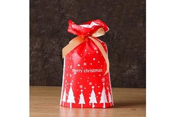 Jouets éducatifs Generic 50pcs sac à cordon de noël sacs de bonbons traiter les sacs avec des sacs à biscuits à cordon toy5943