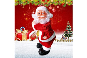 Jouets éducatifs Generic Santa claus performance shaking arm musical santa christmas toy ornements gife @suoupasora3901
