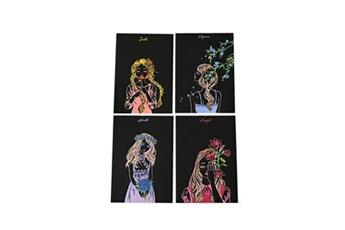 Jouets éducatifs GENERIQUE 4pcs 20x14cm papier de peinture magique scratch art avec bâton de dessin enfants jouet