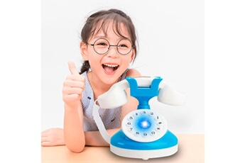 Jouets éducatifs GENERIQUE Kids role play telephone set realistic toy bule with lights & sounds
