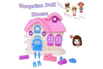 Jouets éducatifs Generic Adorable pretend play princess doll house toy pour les enfants pour les poupées surprises jouets éducatifs