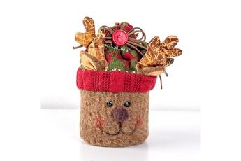 Jouets éducatifs Generic Sac-cadeau portable de noël elk santa claus met en sac le sac de rangement de bonbons d'apple pour l'enfant @suoupasora10420