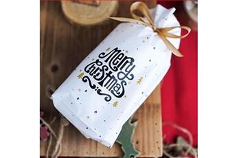 Jouets éducatifs Generic 50pcs sac à cordon de noël sacs de bonbons traiter les sacs avec des sacs à biscuits à cordon toy5939