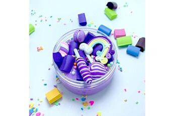 Jouets éducatifs Generic Rainbow charms clear slime belle couleur lollipop slime kids relief stress toy @suoupasora12048