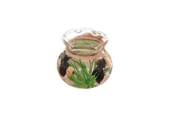 Jouets éducatifs GENERIQUE Mini decor resin miniature fish tank accessory toy for 1/6 1/12 dollhouse cleve