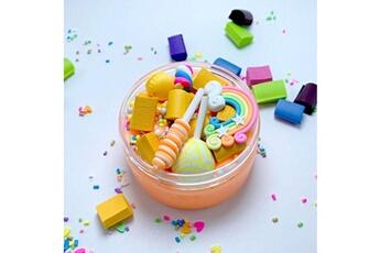 Jouets éducatifs Generic Rainbow charms clear slime belle couleur lollipop slime kids relief stress toy @suoupasora12046