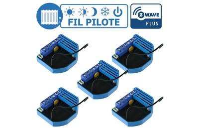 Accessoires chauffage central Qubino Lot de 5 modules fil pilote encastrable z-wave plus - qubino