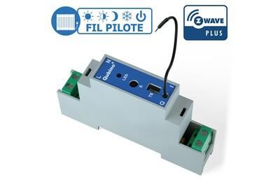 Accessoires chauffage central Qubino Module rail din fil pilote z-wave plus - qubino