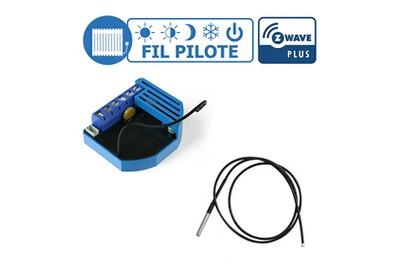 Accessoires chauffage central Qubino Kit gestion de chauffage fil pilote z-wave avec sonde de température - qubino