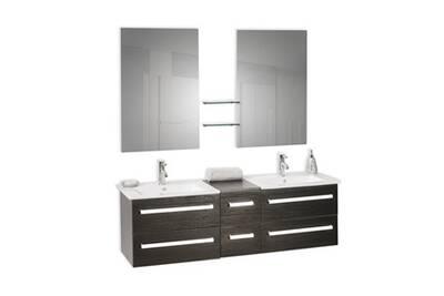 Meuble Salle De Bain Beliani Meuble Double Vasque A Tiroirs Miroir