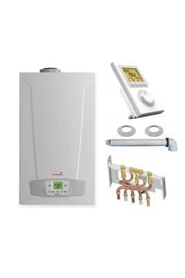 Chauffage à pétrole / gaz Chappee Chaudière gaz condensation initia + compact chappée 25 kw complète (ventouse + douilles + dosseret) avec thermostat filaire