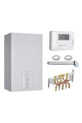 Chauffage à pétrole / gaz Chaffoteaux Chaudière gaz condensation niagara c green 25 kw complète (ventouse + douilles + dosseret) avec thermostat filaire