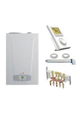 Chauffage à pétrole / gaz Chappee Chaudière gaz condensation initia + duo chappée 25 kw complète (ventouse + douilles + dosseret) avec thermostat filaire