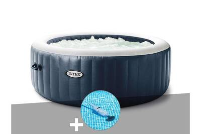 Spa Gonflable Intex Kit Spa Gonflable Intex Purespa Blue Navy Rond