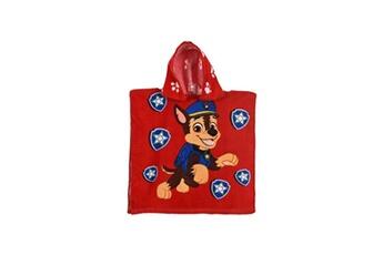Accessoires déguisement PAUL FRANK Paw patrol cape de bain capuche garçon 100% coton rouge