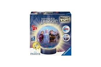 Puzzles RAVENSBURGER Ravensburger - la reine des neiges 2 puzzle 3d rond 72 pieces illumin?