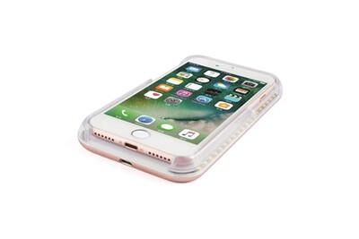 Cabling® coque lumineuse pour selfie avec éclairage led rechargeable, flash, interrupteur à intensité variable compatible avec apple iphone 8 plus, ro
