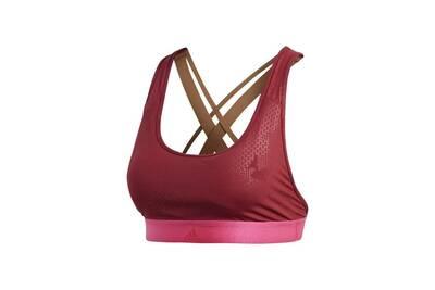 Adidas brassiere de running don't rest e ai femme rouge bordeaux