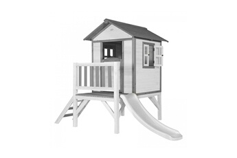 Cabane enfant Axi House Maisonnette lodge xl toboggan blanc