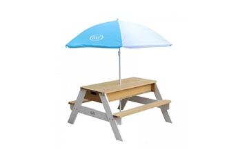 Accessoires pour aire de jeux Axi House Table sable et eau nick brun blanc avec parasol bleublanc