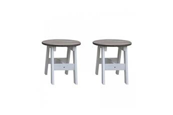 Accessoires pour aire de jeux Axi House 2 tabourets ronds blanc gris