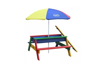 Accessoires pour aire de jeux Axi House Table sable et eau nick arcenciel avec parasol arcenciel