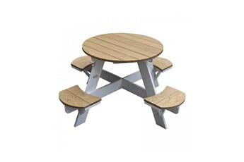 Accessoires pour aire de jeux Axi House Table picnic ovni ronde brun blanc