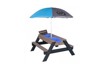 Accessoires pour aire de jeux Axi House Table sable et eau nick antharcite avec parasol