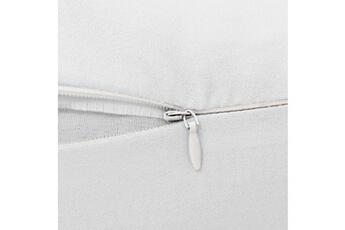 Coussin d'allaitement GENERIQUE Icaverne - coussins d'allaitement stylé coussin de grossesse en forme de j 54 x 43 cm blanc