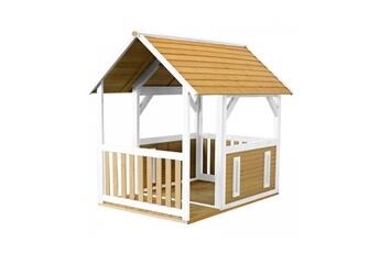 Cabane enfant Axi House Maisonnette forest brun blanc