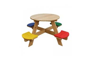 Accessoires pour aire de jeux Axi House Table picnic ovni ronde arc en ciel