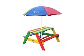 Accessoires pour aire de jeux Axi House Table picnic nick arcenciel avec parasol arcenciel
