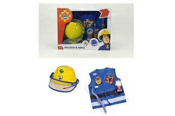 Véhicules miniatures Marque Generique Vehicule miniature assemble - engin terrestre miniature assemble sam le pompier kit pompier + casque