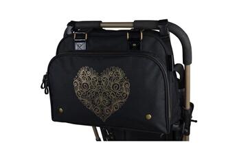 Sac à langer Marque Generique Sac a langer sac a langer simply premium + accessoires - noir coeur doré