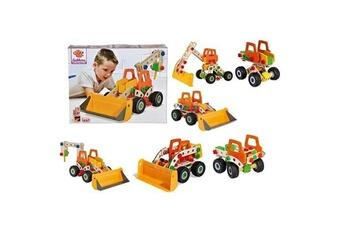 Véhicules miniatures Marque Generique Vehicule a construire - engin terrestre a construire pelleteuse 6 en 1 construction 140 pieces