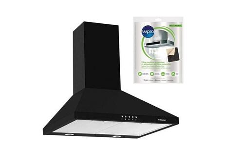Hotte décorative pyramidale aspirante noire largeur 60cm débit d'air 500m3/