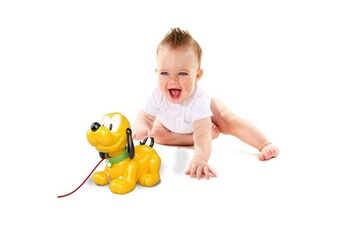 Spirale d'activité CLEMENTONI Icaverne table activite - jouet d'activite disney baby - pluto te suit partout - jouet a tirer