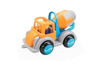 Véhicule électrique Viking Toys Icaverne voiture electrique camion toupie - orange et bleu - 25 cm